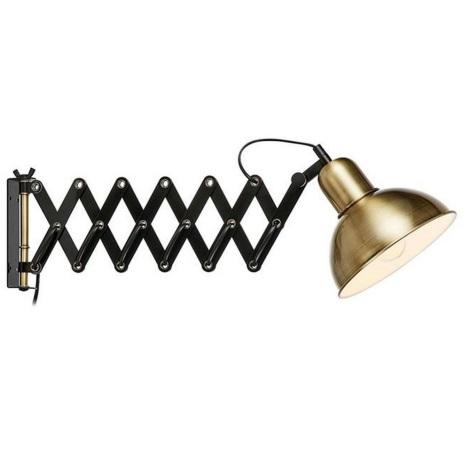 Markslöjd 108104 - Nástěnné svítidlo RIGGS 1xE27/60W/230V mosaz