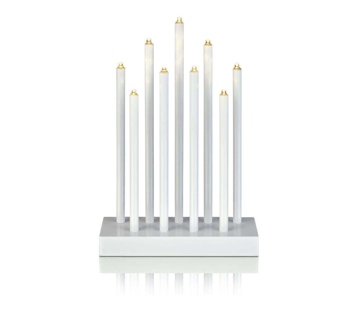 Markslöjd Markslöjd 702588 - LED Vánoční svícen VIIK 9xLED/0,54W/230/3V bílý ML0777