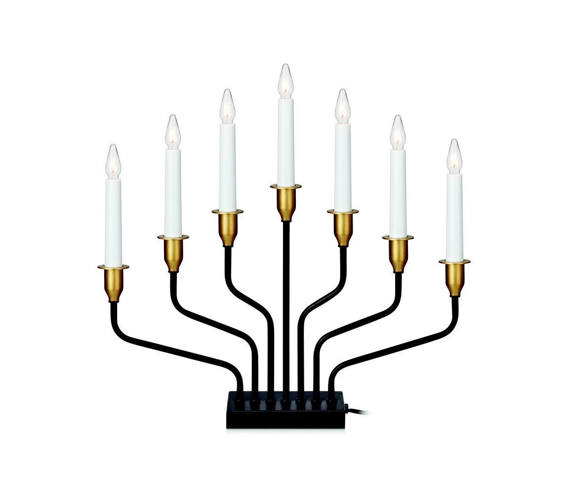 Markslöjd Markslöjd 703578 - Vánoční svícen BROSA 7xE10/3W/230/34V černý ML0774