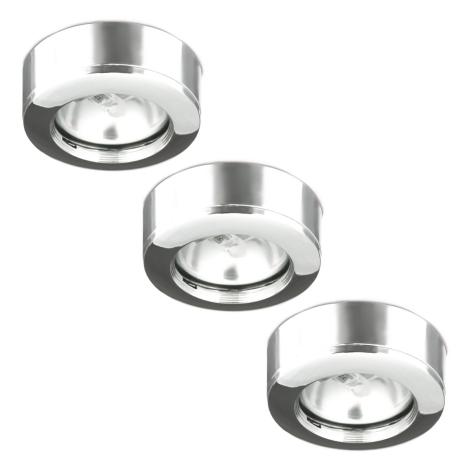 Massive 00250/23/11 - SADA 3x Koupelnové podhledové světlo PITRU 1xGU4/20W