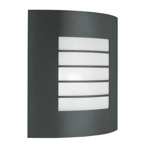 Massive 01726/01/93 - Venkovní nástěnné svítidlo OSLO 1xE27/60W tmavá šedá