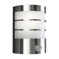 Massive 17026/47/10 - Venkovní nástěnné svítidlo s čidlem CALGARY 1xE27/60W/230V IP44