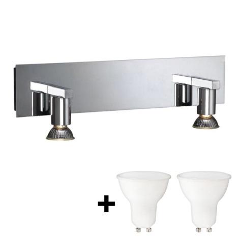 Massive 34026/11/10 - LED Koupelnové nástěnné svítidlo HORIZON 2xGU10/6W + 2xGU10/50W