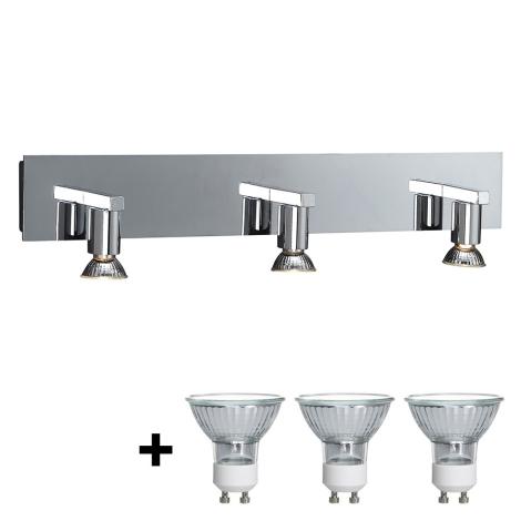 Massive 34027/11/10 - Koupelnové nástěnné svítidlo HORIZON 3xGU10/50W/230V