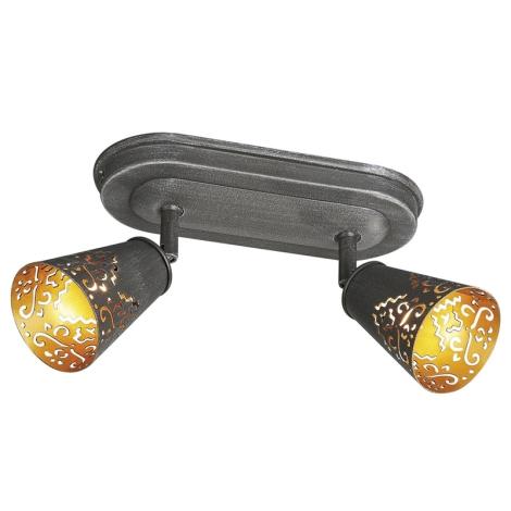 Massive 55492/93/10 - Bodové svítidlo CHIMO 2xG9/40W tmavě šedá/zlatá patina