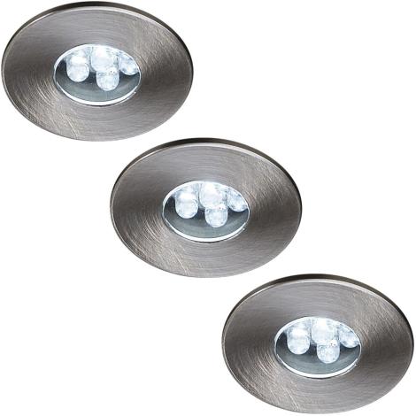 Massive 59023/17/10 - SADA 3x LED podhledové svítidlo ATTIKI 3xLED/0,36W/12V