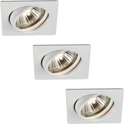 Massive 59323/31/10 - SADA 3x Koupelnové bodové svítidlo QUARTZ 1xGU10/50W/230V