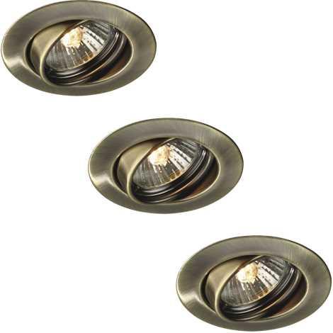 Massive 59333/06/10 - SADA 3x Koupelnové podhledové svítidlo OPAL 3xGU10/50W