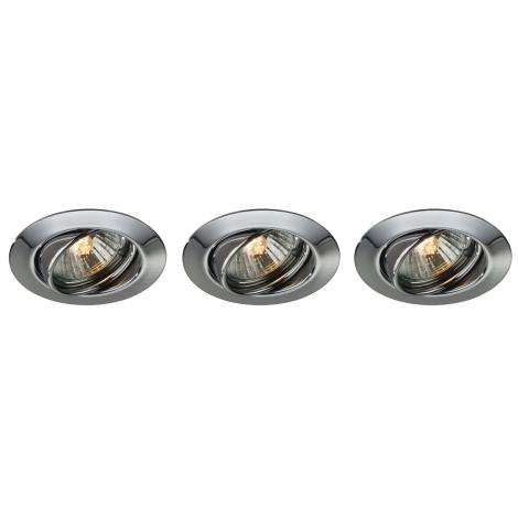 Massive 59333/11/10 - SADA 3x Koupelnové podhledové světlo OPAL 3xGU10/50W chrom