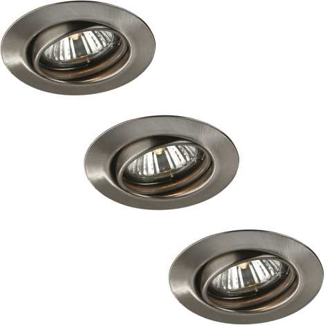 Massive 59333/17/10 - SADA 3x Koupelnové podhledové svítidlo OPAL 3xGU10/50W