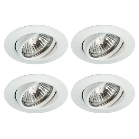 Massive 59334/31/15 - SADA 4x Koupelnové podhledové svítidlo QUARTZ 4xGU10/50W