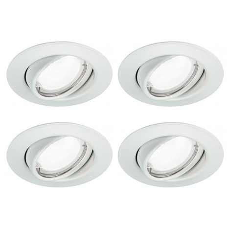 Massive 59334/31/15 - SADA 4x LED koupelnové svítidlo QUARTZ 4xGU10/4W/230V