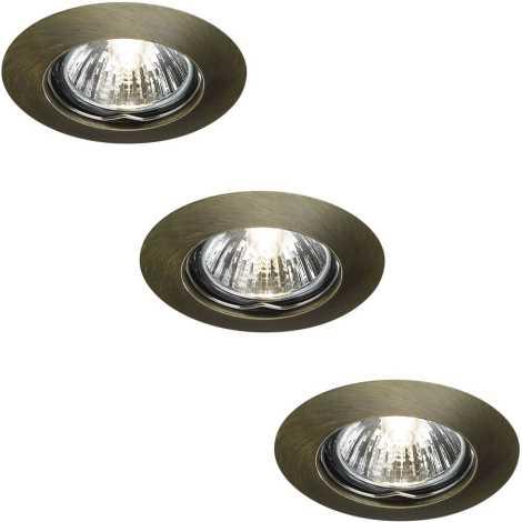 Massive 59393/06/19 - SADA 3x Koupelnové podhledové svítidlo ALPHA 3xGU10/50W