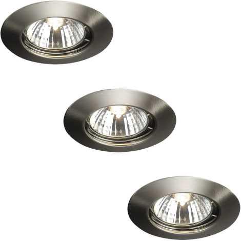Massive 59393/17/10 - SADA 3x Koupelnové podhledové svítidlo ALPHA 3xGU10/50W