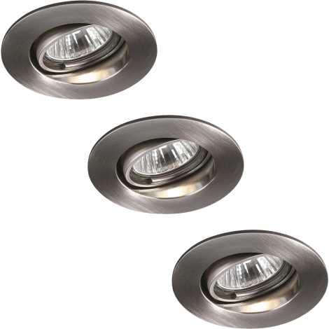 Massive 59463/17/10 - SADA 3x Koupelnové podhledové svítidlo MANGO 3xGU10/35W