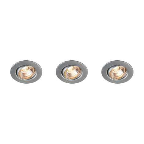 Massive 59463/48/10 - SADA 3x Koupelnové podhledové svítidlo MANGO 3xGU10/35W