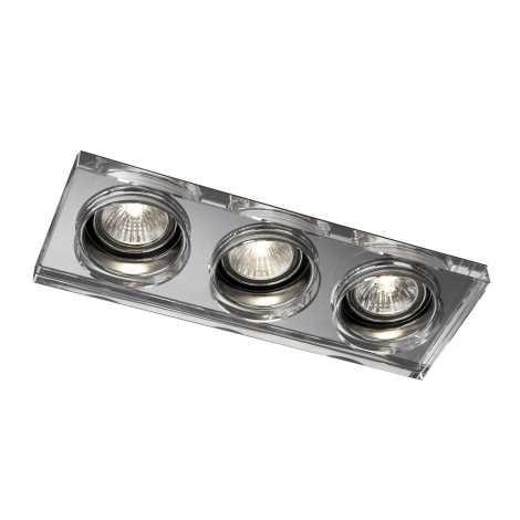 Massive 59563/11/10 - Koupelnové podhledové svítidlo SAPPHIRE 3xGU10/50W/230V