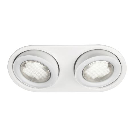 Massive 59602/31/10 - Koupelnové podhledové svítidlo MONO 2xGX53/9W/230V bílá