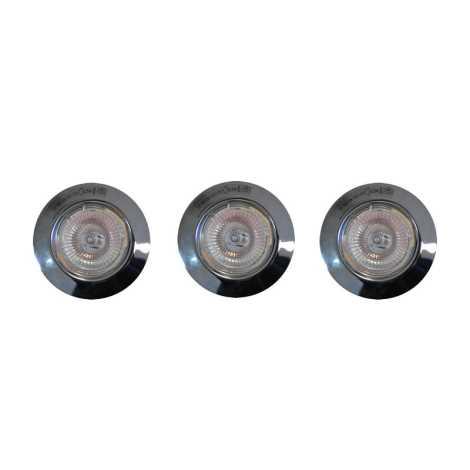 Massive 59633/11/19 - SADA 3x Koupelnové podhledové svítidlo 1xGU5,3/20W/12V