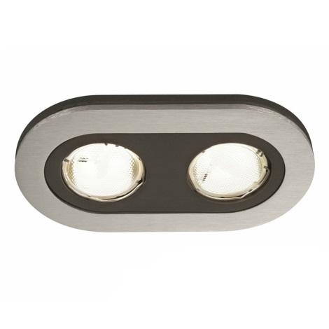 Massive 59657/48/10 - Koupelnové podhledové svítidlo HEZE 2xGU10/10W/230V hliník