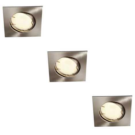 Massive 59733/17/10 - SADA 3x koupelnové podhledové svítidlo ZARO 3xGU10/10W
