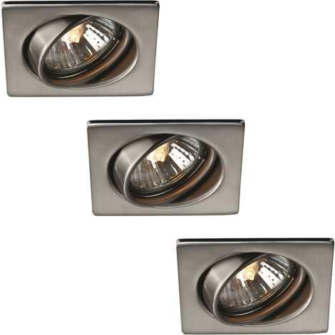 Massive 59783/17/10 - SADA 3x Koupelnové podhledové světlo TONGA 3xGU10/50W nerez