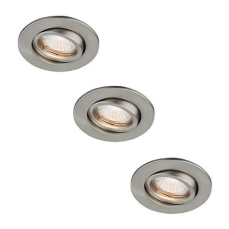 Massive 59901/17/10 - SADA 3x Koupelnové podhledové svítidlo SPRING 3xGU4/20W