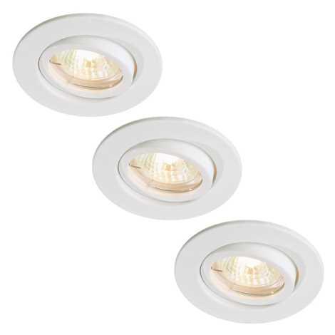 Massive 59902/31/10 - SADA 3x Koupelnové podhledové svítidlo LAKE GU10/35W bílá