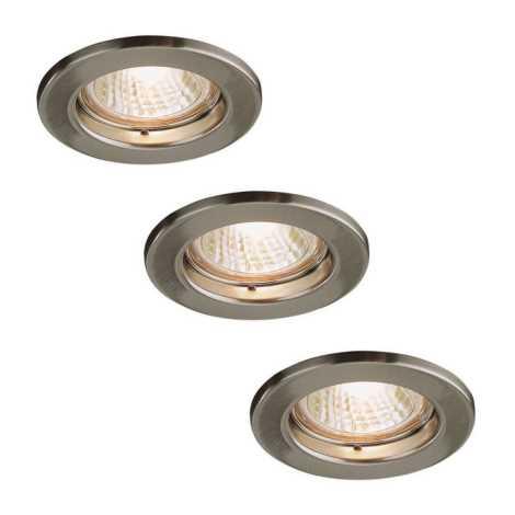 Massive 72813/23/17 - SADA 3x Koupelnové podhledové svítidlo LEONIS 3xGU10/50W