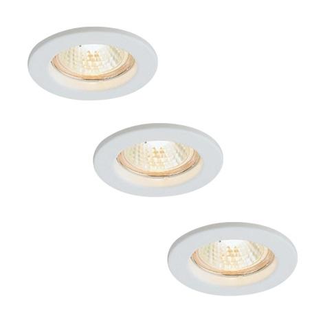 Massive 72813/23/31 - SADA 3x Koupelnové podhledové svítidlo LEONIS 3xGU10/50W