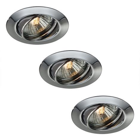 Massive LED 59333/11/10 - SADA 3x LED koupelnové podhledové světlo OPAL 3xLED/4W