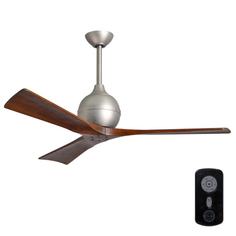 Matthews VEN-IR3-60 - Stropní ventilátor IRENE 60″ matný nikl/ořech