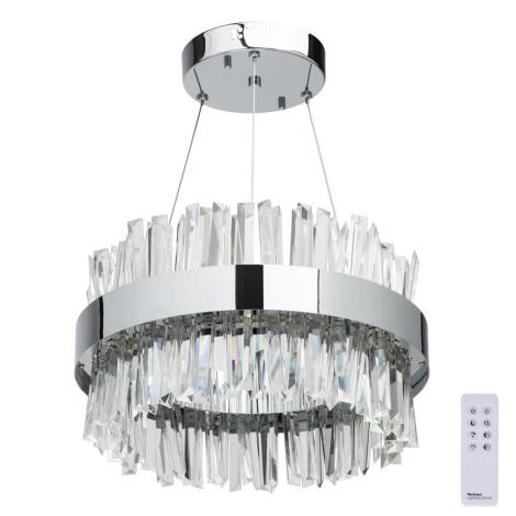 MW-LIGHT - LED Stmívatelný křišťálový lustr na lanku ADELARD LED/55W/230V + DO