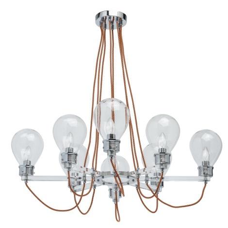 MW-LIGHT - Lustr na lanku LOFT HAMBURG 8xE14/5W/230V