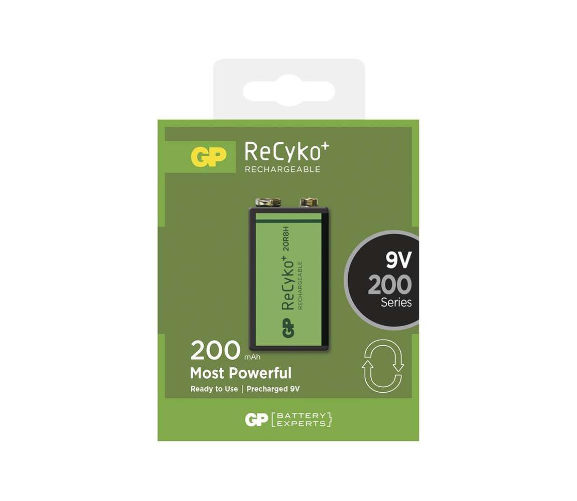 EMOS Nabíjecí baterie 6F22 GP RECYKO+ NiMH/9V/200 mAh EMS071