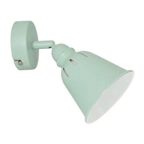 Nástěnné bodové svítidlo FIONA 1xE14/8W/230V zelená