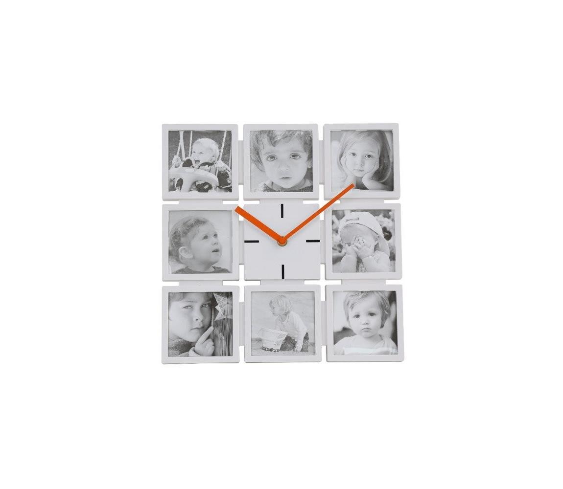 Platinet Nástěnné hodiny s fotorámečky 1xAA PL0202
