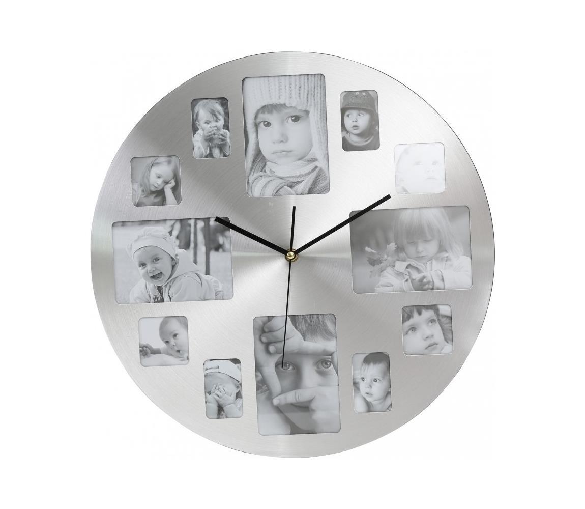 Platinet Nástěnné hodiny s fotorámečky 1xAA PL0206