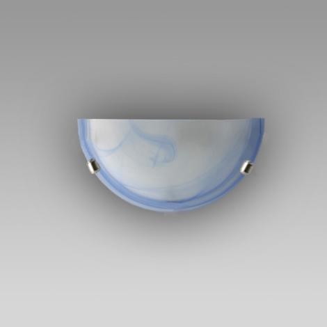 Nástěnné svítidlo ALABASTR modrá