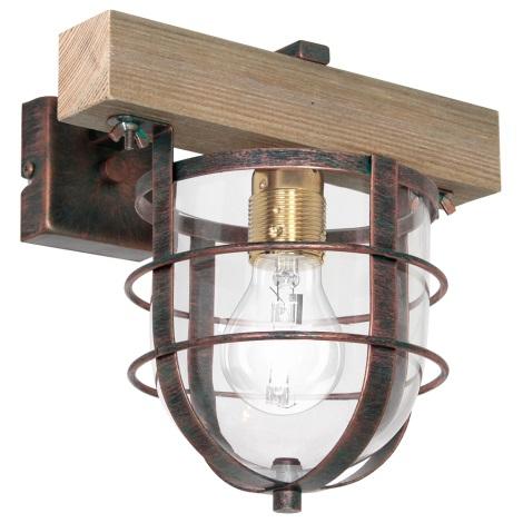 Nástěnné svítidlo ANDER 1xE27/60W/230V světle hnědá