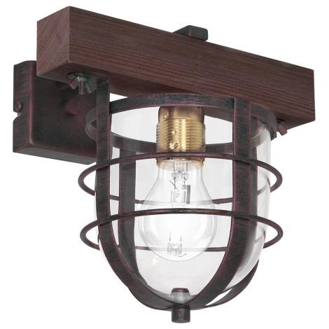 Nástěnné svítidlo ANDER 1xE27/60W/230V tmavě hnědá