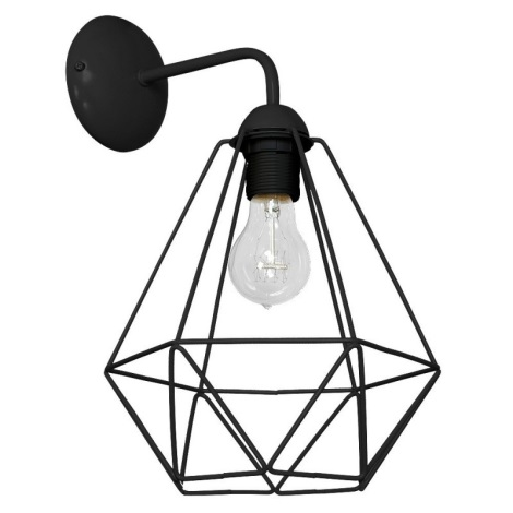 Nástěnné svítidlo BASKET 1xE27/60W/230V černá