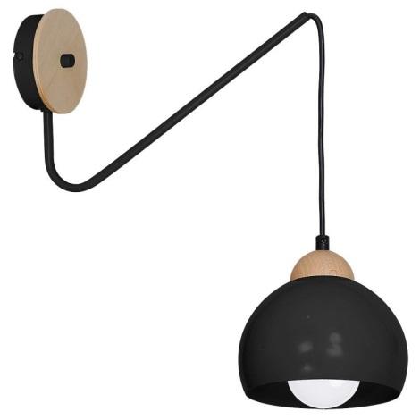 Nástěnné svítidlo DAMA 1xE27/60W/230V černá
