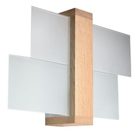 Nástěnné svítidlo FENIKS 1 1xE27/60W/230V přírodní dřevo