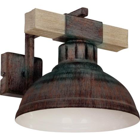 Nástěnné svítidlo HAKON 1xE27/60W/230V patina