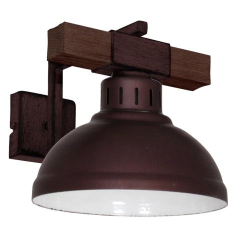 Nástěnné svítidlo HAKON 1xE27/60W/230V tmavá