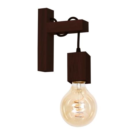 Nástěnné svítidlo JACK 1xE27/40W/230V hnědé dřevo