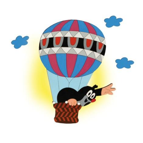 Nástěnné svítidlo Krtek v balónu