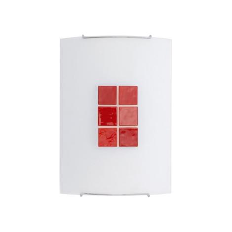 Nástěnné svítidlo KUBIK 3 RED 1xE27/100W