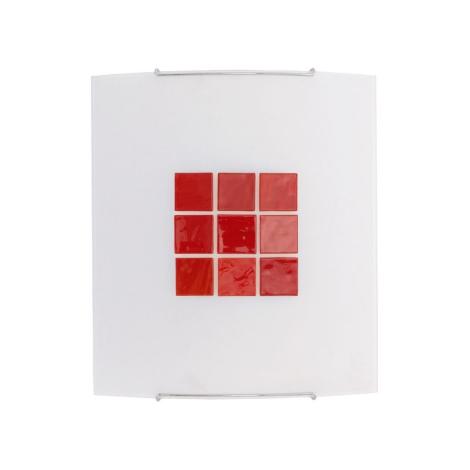 Nástěnné svítidlo KUBIK 5 RED 1xE27/100W